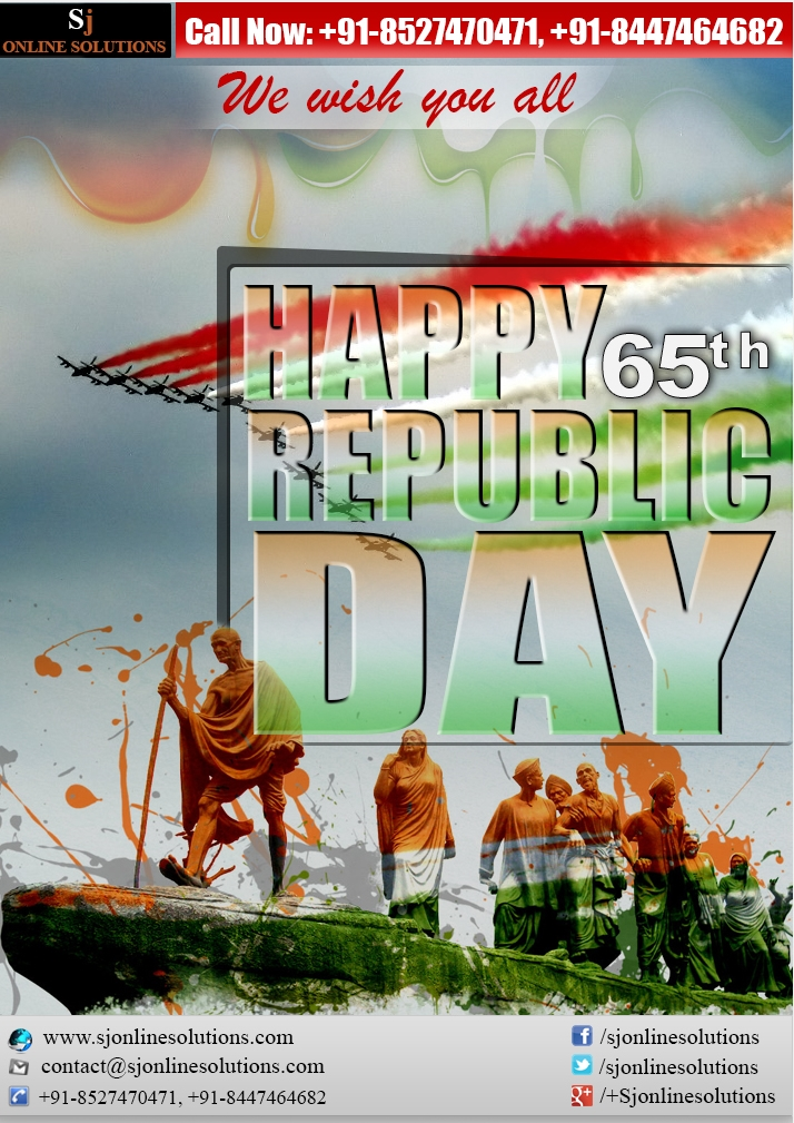 We Wish You All A Very Happy 65th Republic Day!