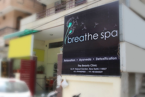 Backlit Hoarding Designing And Printing For Breathe Spa