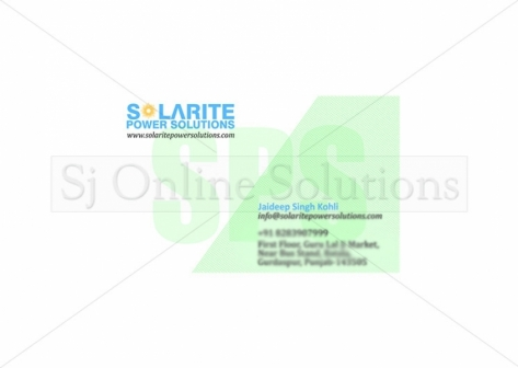 Visiting Card Designing for Solarite Power Solutions