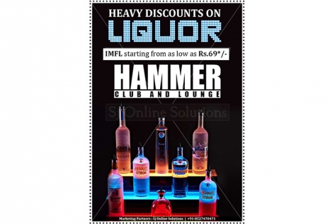 Creative Design For Discount Offer at Hammer Club And Lounge