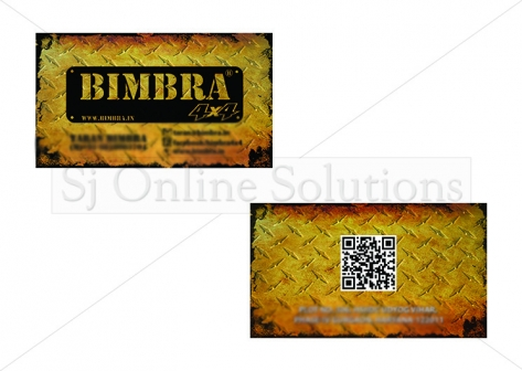 Visiting Card Design for Bimbra 4x4
