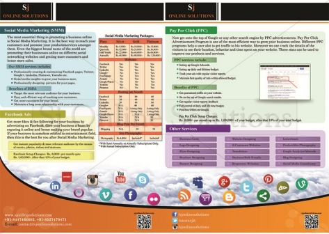Brochure Designing for Online Marketing Services