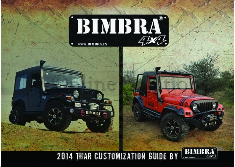 Brochure Designing for Bimbra 4x4