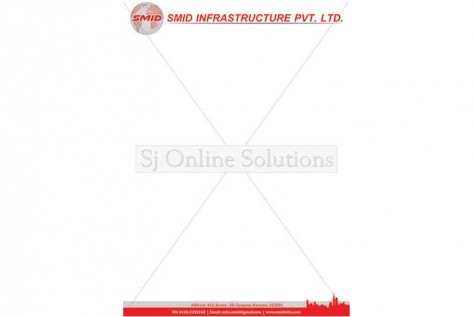 Letter head Design For SMID Infrastructure pvt. Ltd.