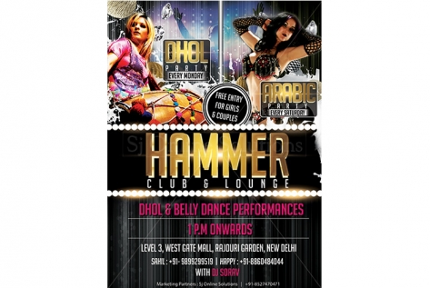 Dhol and Arabic Party at Hammer Club & Lounge