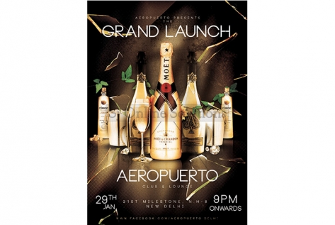 Creative Designing And Printing for Aeropuerto Club And Lounge.