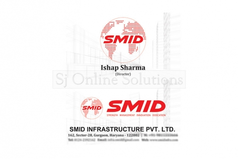 Visiting Cards Design for SMID Infrastructure Pvt. ltd.