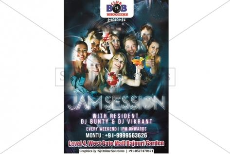 Creative Designing For Jam Session Party At BnB Shooters Club