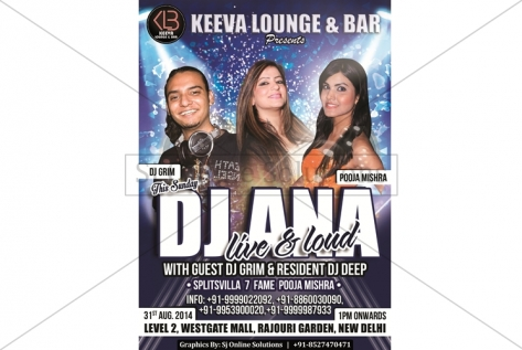 Creative Designing For Party With DJ Ana at Keeva Lounge And Bar Rajouri