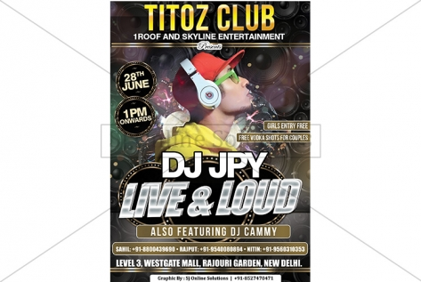 Creative Design For Party With Dj APY At Titoz Club And Lounge