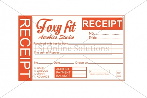 Receipts Designing For Foxy Fit