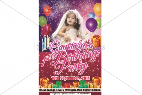 Creative Designing For First Birthday Of Gaurisha At Keeva Lounge And Bar