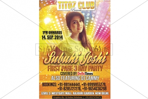 Creative Designing For Party With Subuhi Joshi At Titoz Club