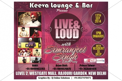 Banner Designing And Printing For Keeva Lounge And Bar