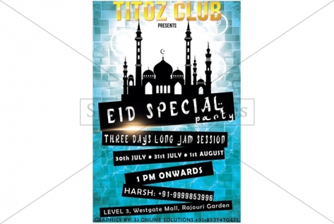 Creative Design For Eid Party AT Club Titoz
