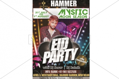Creative Design For Eid Party At Club Hammer