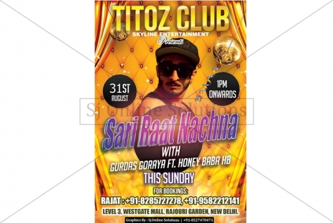 Creative Designing For Titoz Club And Lounge Party
