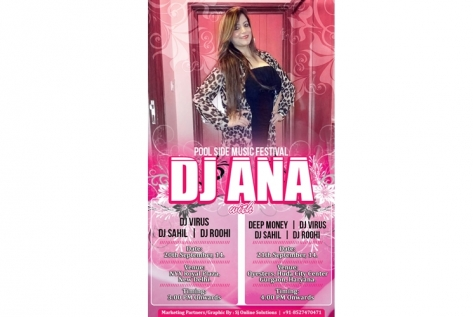 Creative Designing For Pool Parties For DJ Ana