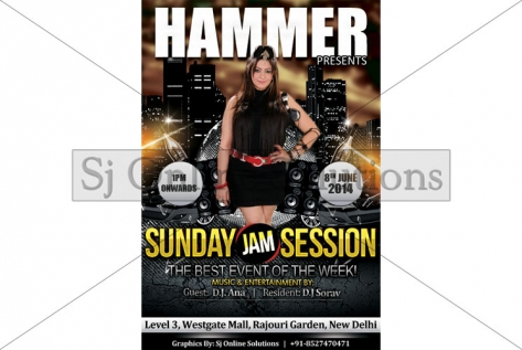 Creative Design For party With Dj Ana at Club Hammer