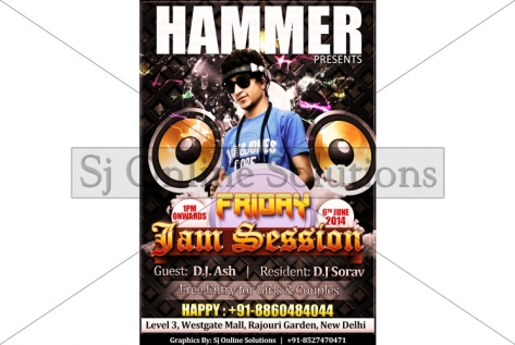 Creative Design For friday jam Session With A-Bazz at Club Hammer
