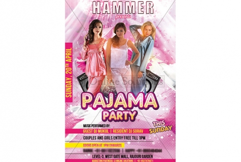 Creative Design For Pajama Party For Hammer Club And Lounge