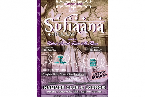 Creative Design For Sufiana Shaam At Hammer Club And Lounge