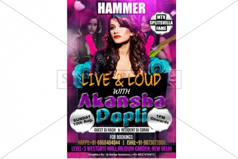 Creative Design For party With Dj Akansha Popli at Club Hammer