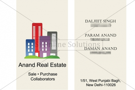 Visiting Card Design For Anand Real Estate