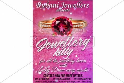 Creative Designing For Rubani Jewellers For Jewellery Kitty
