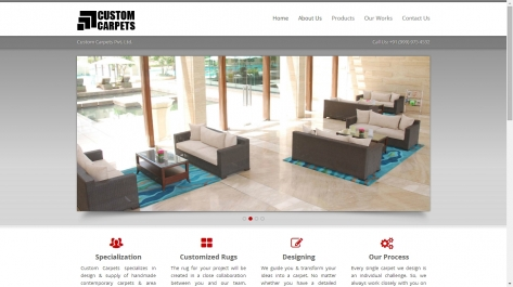 Website Designing For Custom Carpets