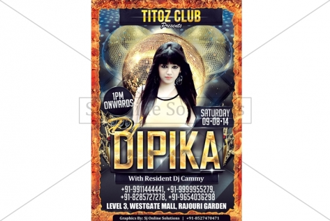 Creative Design For party With Dj Dipika at Club Titoz