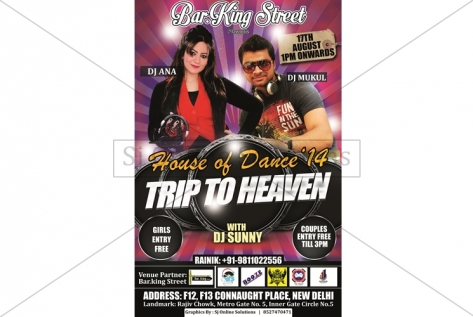 Creative Design For party with Dj Ana and Dj Mukul at Bar King Street