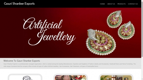 Website Designing for Gauri Shankar Exports