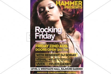Creative Design For Party At Club Hammer