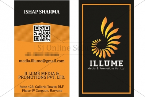 Visiting Cards Design For Illume Media And Promotions Pvt. Ltd.