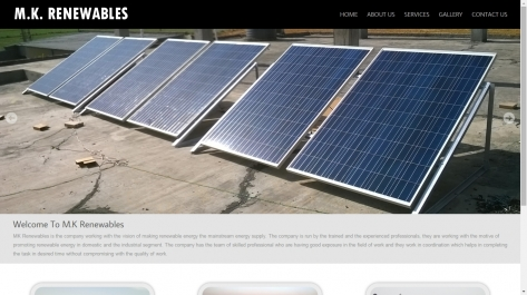 Website Designing For Mk Renewables