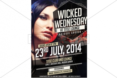 Creative Design For WIcked Wednesday Party At Titoz Club And Lounge