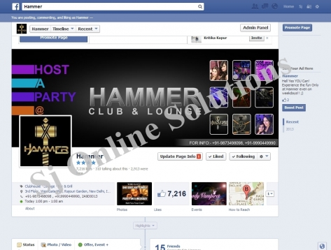 Online Marketing for Hammer Club and Lounge