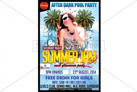 Creative Design For Summer Jam Pool Party