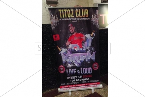 Standee Printing For Party With Dj Kiran At Titoz Club And Lounge