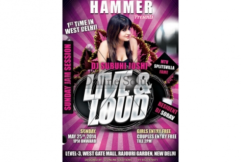 Creative Design For Dj Subuhi at Hammer Club And Lounge