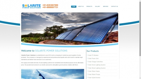 Website Redesigning for solarite power solution