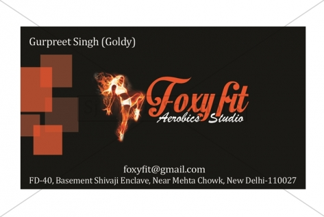 Visiting Card Design For Foxy Fit