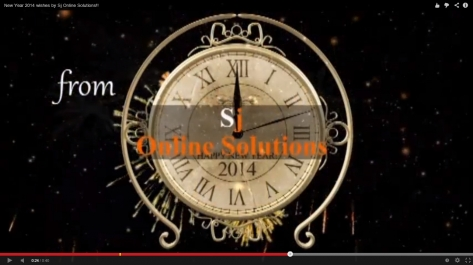 Video Designing For New Year Eve 2014 By Sj Online Solutions