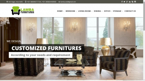 Website Designing For Lamba Furniture