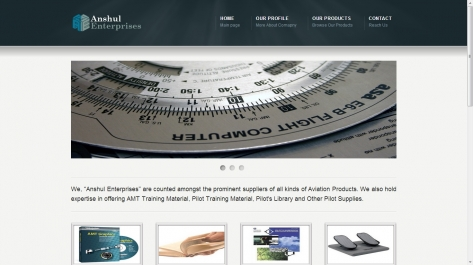 Website for Anshul Enterprises