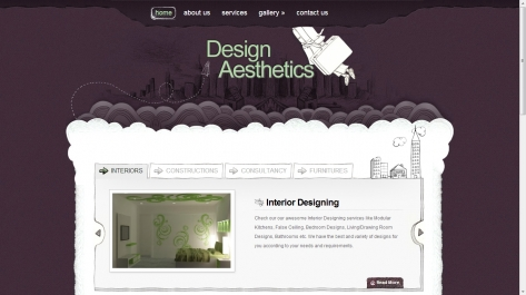 Website for Design Aesthetics