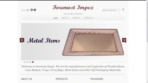 Website for Foremostimpex