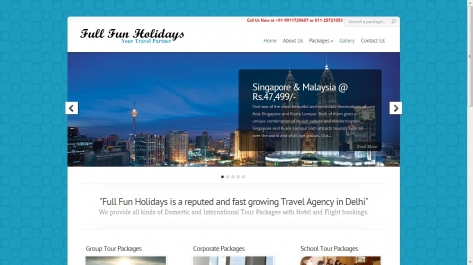 Website for Full Fun Holidays
