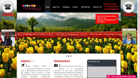 Website for Kashmir Tour Guide